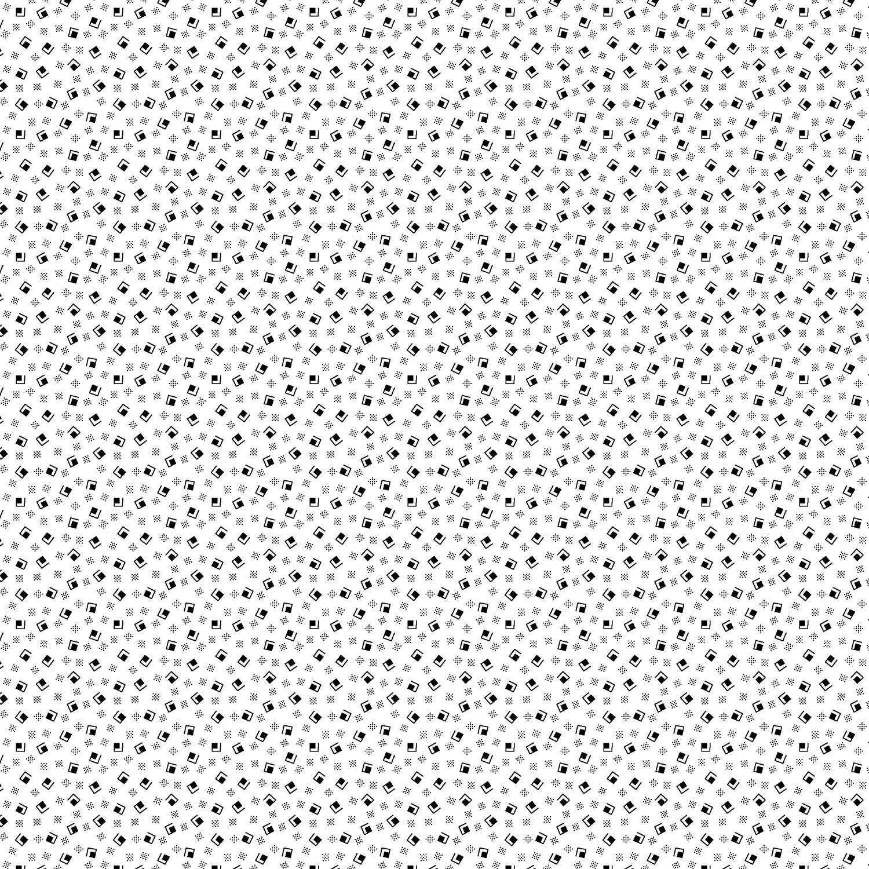 2618 003 Bare Essentials Deluxe Sugar Cubes White Black Fabric
