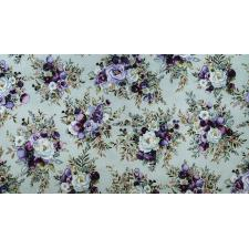 PS100-SA1M Lilac & Sage - Bouquet - Sage Copper Pearl Metallic Fabric 2