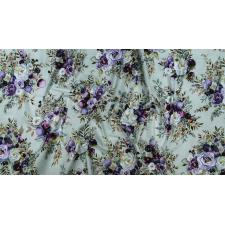 PS100-SA1M Lilac & Sage - Bouquet - Sage Copper Pearl Metallic Fabric 3