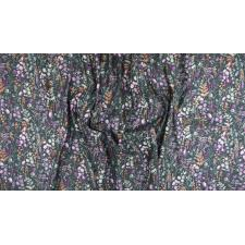 PS102-BA2M Lilac & Sage - Wildflowers - Basil Copper Pearl Metallic Fabric 3