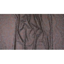 PS103-GY3M Lilac & Sage - Leaves - Gray Copper Pearl Metallic Fabric 3