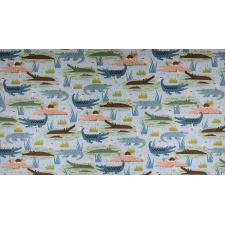 RJ1300-TE3 Adventure - Gators - Teal Fabric 2
