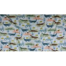 RJ1300-TE3 Adventure - Gators - Teal Fabric 3