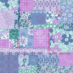 2922-002 Vintage Made Modern - Stitcher's Garden - Collage - Lilac Fabric