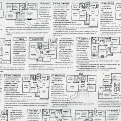3227-001 Fine Print - Floor Plans - Black On White Fabric
