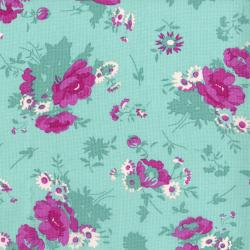 3522-002 Garden Club - Bouquet - Sky Fabric