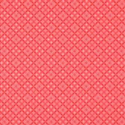 2880-001 One Room Schoolhouse - Eyelet - Coral Fabric