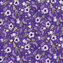 3294-001 June's Cottage - Blossoms And Berries - Vineyard Fabric