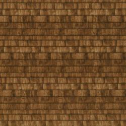 1430-001 Danscapes - Shingles - Brown Fabric