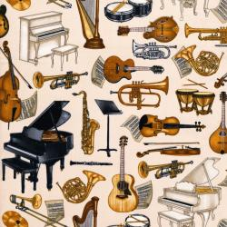 2456-001 Perfect Pitch - Musical Instrument - Beige Fabric