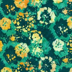 2814-003 Blossom Batiks - Ink Floral - Dayllly Batik Fabric