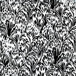 2813-001 Blossom Batiks - Black & White - Feathers - Starling Batik Fabric