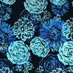 3503-001 Blossom Batiks - Splash - Bouquet - Bluebird Fabric