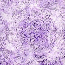 3504-002 Blossom Batiks - Splash - Big Bloom - Lilac Fabric