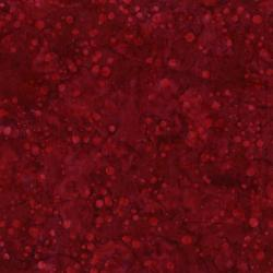 2812-017 Blossom Batiks - Valley - Ink Dots - Cranberry Batik Fabric