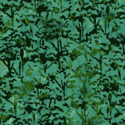3098-004 Blossom Batiks - Valley - Tree Top - Juniper Batik Fabric