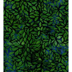3135-003 Blossom Batiks - Valley - Forest Flowers - Emerald Batik Fabric