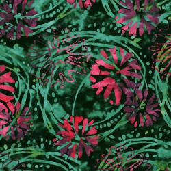 3143-001 Blossom Batiks - Valley - Floating Flowers - Gladiolus Batik Fabric
