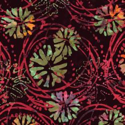 3143-002 Blossom Batiks - Valley - Floating Flowers - Snapdragon Batik Fabric