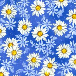 2944-002 Daisy Blue - Daisy Dance - Blue Sky Fabric