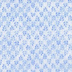 2951-002 Daisy Blue - Lovely Leaves - Blue Sky Fabric