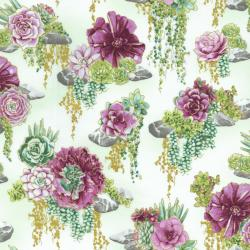 2884-002 Oasis - Tranquil Trail - Thistle Fabric