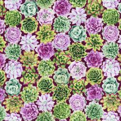 2886-002 Oasis - Radiant Rosette - Thistle Fabric