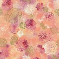 2889-001 Oasis - Summer Blooms - Coral Fabric