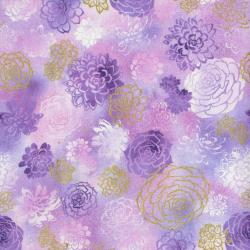 2889-003 Oasis - Summer Blooms - Thistle Fabric