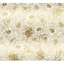 3482-001 Shiny Objects - Precious Metals - Lustrous Lace - Gold Metallic Fabric
