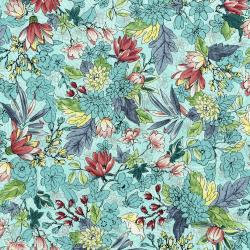 3251-002 Serene Spring - May Flowers - Breeze Metallic Fabric