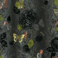 3018-003 Shiny Objects - Menagerie - Storm Metallic Fabric