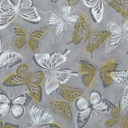 3020-004 Shiny Objects - Butterfly Bourree - Wishing Well Metallic Fabric