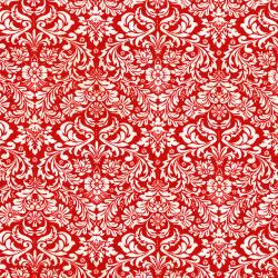 3163-001 Shiny Objects - Holiday Twinkle - Dazzling Damask - Radiant Cherry Metallic Fabric