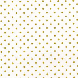 3164-004 Shiny Objects - Holiday Twinkle - Spot On - Snow Metallic Fabric