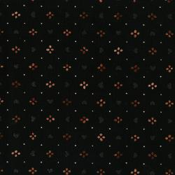 3376-004 Shiny Objects - Precious Metals - Sweethearts - Radiant Black Metallic Fabric