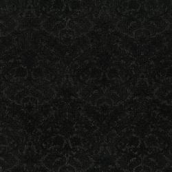 3512-001 Shiny Objects - Precious Metals - Dazzling Damask - Radiant Black Metallic Fabric