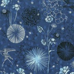 3529-001 Shiny Objects - Sweet Somethings - Only In Dreams - Blueberry Metallic Fabric