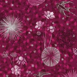 3529-003 Shiny Objects - Sweet Somethings - Only In Dreams - Raspberry Metallic Fabric