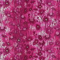 3531-002 Shiny Objects - Sweet Somethings - Love Me Love Me Not - Raspberry Metallic Fabric