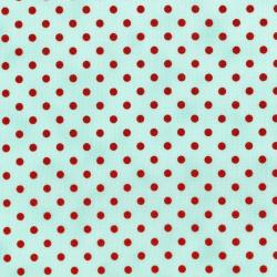 3164-007 Sugar Berry - Spot On - Radiant Aqua Metallic Fabric