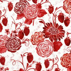 3370-002 Sugar Berry - Picinic In The Park - Radiant Cherry Metallic Fabric