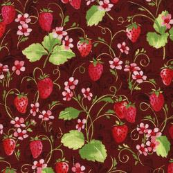 3371-002 Sugar Berry - Strawberry Pie - Radiant Crimson Metallic Fabric