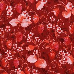 3371-003 Sugar Berry - Strawberry Pie - Radiant Scarlet Metallic Fabric