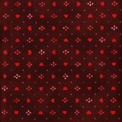 3376-002 Sugar Berry - Sweethearts - Radiant Crimson Metallic Fabric
