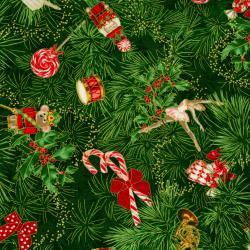 2784-001 Suite Christmas - Claras Tree - Tannenbaum Metallic Fabric