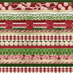 2785-001 Suite Christmas - Land Of The Sweets - Candy Cane Metallic Fabric