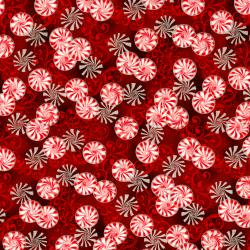 2788-002 Suite Christmas - Pepperment Twist - Cinnamon Metallic Fabric