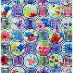 3339-001 The Paper Garden - Pop Dot - Rainbow Digiprint Fabric