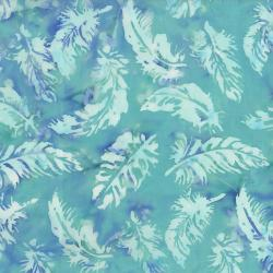 FF302-BR3 Blossom Batiks - Cascade - Feathers - Breeze Fabric